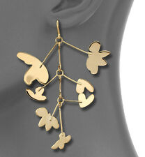 Marc by Marc Jacobs Earrings Wildflower Asymmetrical Goldtone NEW $98