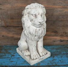 große Löwenstatue Löwenfigur Löwe Statue Figur Garten Keramik 28cm Torwächter