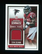 2015 PANINI CONTENDERS ROOKIE TICKET SWATCH #RTS-TC TEVIN COLEMAN RC FALCONS
