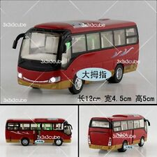 1:32 Red Diecast School Travel Tourist Bus Model Toy Car With sound & lights