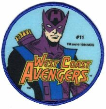 WEST COAST AVENGERS HAWKEYE 1984 Sew-On Patch MARVEL COMICS Unused NOS Large 4""