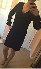 ASOS Loose Shift Dress. Swing. Dark Blue Navy. Gold Buttons. US 4/UK 8. NEW