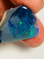 Australian Rough Opal L/Ridge 19.5cts N4 Black Colour Check Seam Multi.F WE783