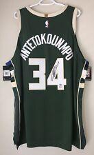 Giannis Antetokounmpo Bucks Autographed Nike NBA Authentic Vaporknit Jersey BAS