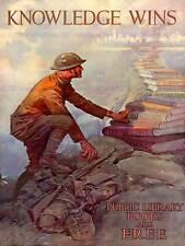Propaganda Guerra WWII USA conoscenze Books Library fine art print poster bb8305b