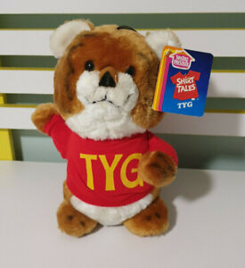 SHIRT TALES TYG THE TIGER WITH TAGS 1983 HASBRO PRESCHOOL CHARACTER TOY 27CM