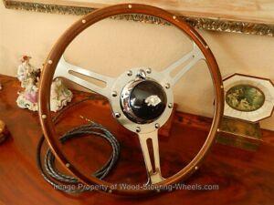 "Jaguar XK120  Wood Steering Wheel DERRINGTON 16"" ORIGINAL Vintage 1950's NOS NEW"
