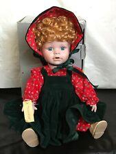 "Vintage 1989 Mann 383 Hand Made Porcelain 10"" Sitting Doll Soft Body"