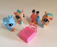 LPS Littlest Pet Shop Sea Creatures, Sea Horse & Hermit Crab Toy Figure Bundle