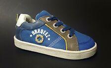 New $80 BRAQEEZ Kids Shoes Toddler Boys LEATHER European Blue Size 9 USA/26 EURO