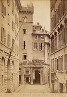 Roma Torre medievale detta della Scimmia Foto originale all'albumina 1880c S1265