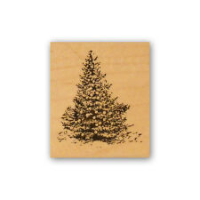 Christmas Tree mounted rubber stamp, pine tree, winter, vintage style CMS #7