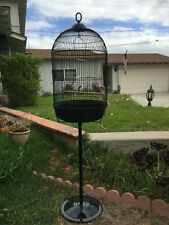 Round Dome Bird Flight Cage W/Stand Finches LoveBird Budgies Canaries Aviaries
