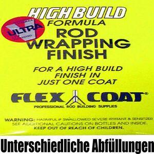 Flex Coat High Build Lack Bindungslack verschiedene Gebinde Rutenbau Blank Kork