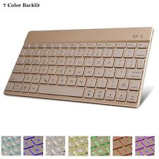 "7 Color Backlit Ultra Slim Bluetooth Keyboard For Apple iPad 9.7"" 2017"