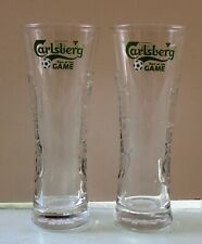 CARLSBERG BEER SET OF TWO GLASSES 0.33L ''PART OF THE GAME'' SERIES