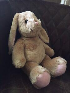 "Build a Bear Workshop Pawlette Bunny Rabbit Tan Brown 15"" Stuffed Animal Plush"