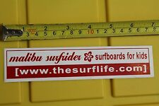 MALIBU CA Surfrider Beach Surfboards Surf Life Kids Rare Vintage Surfing STICKER