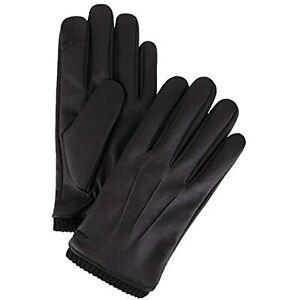 MSRP $55 Calvin Klein Men's Leather Gloves black Pepper Size Medium