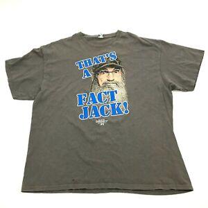 Duck Dynasty Shirt Mens Size 2XL XXL Gray Short Sleeve Graphic THATS A FACT JACK