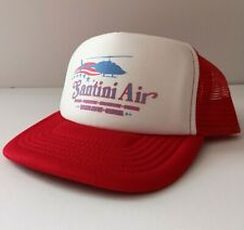 Santini Air Trucker Snapback Hat - Airwolf 80s TV Helicopter TV Show Action Cap