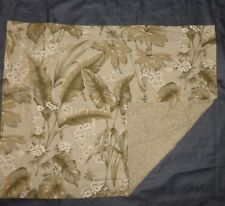 TWO Nautica 'Trinidad Tobacco' Tropical Leaves Standard Pillow Shams NEW