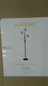 Sinclair 70 in. Integrated LED Black Floor Lamp by Adesso