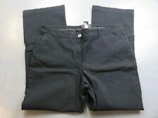lane bryant womens pants rayon blend black straight leg flat front sie 18
