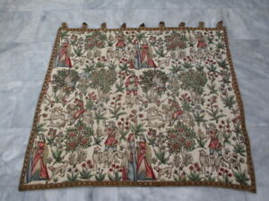 7126 - Old French / Belgium Tapestry Wall Hanging - 112 x 97 cm