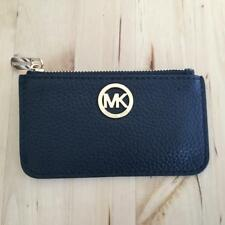 MICHAEL KORS FULTON LEATHER KEY POUCH BLACK NEW
