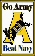 "Go Army! Beat Navy! Tough, Durable Magnet - 6"" X 3.75"""