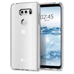 Spigen® LG V30 [Liquid Crystal] Ultra Slim Clear Case TPU Cover