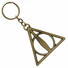Harry Potter The Deathly Hallows Logo Metal Keychain, NEW UNUSED