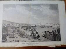INCISIONE  ORIGINALE. ENTREE FRANCAIS DANS LIVOURNE. CARLE VERNET. 1804