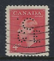 Canada Perfin C15-C/GE 4c King George VI, Scott 287, Canadian General Electric