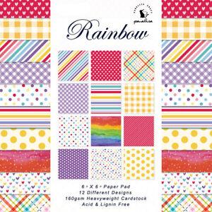 12X 6'' Rainbow Love Paper Pad Origami Scrapbooking Photo Album Card Journal DIY