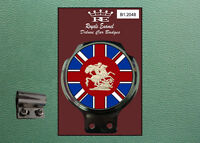 Classic Car Badge & Bar Clip ST GEORGE DRAGON UNION JACK - Ulma Vigano B1.2048