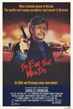 THE EVIL THAT MEN DO Movie POSTER 27x40 Charles Bronson Theresa Saldana Joseph