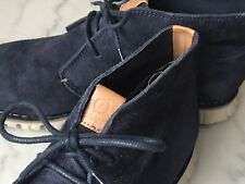 Mint Cole Haan Zerogrand Men Navy Blue Chukka Grand OS Boots Stitchout Size 8M