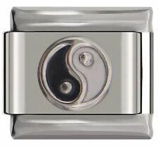 9mm Italian Bracelet Yin Yang Symbol charm DJ01