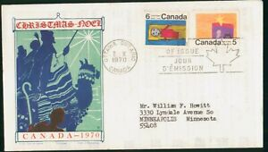 MayfairStamps Cover 1970 Christmas Noel Jackson Canada FDC 1970 First Day Cover