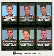 2001 Teamcoach Trading Cards Silver Regular Team set Geelong (6 )