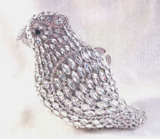 Bling Silver~Parrot Bird Shaped~Handmade Crystal Evening Cocktail Bag