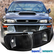 1995-2001 Impreza WRX Corner Lamps Turn Signal Lights Black