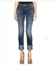 Current/Elliott The Cuffed Skinny Distressed Jeans Size 25 Retail $228