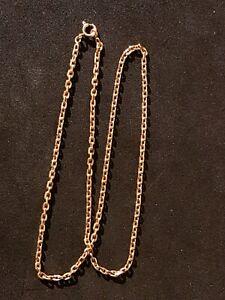 Collier Chaîne Or jaune or 18 carats 750   7.7 gr 41 cm. gold 18 k