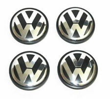 4x 56mm Black Wheel Center Cover Hub Cap Logo For VW Golf Jetta Beetle 1J0601171