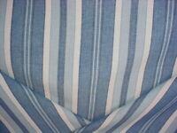 1-1/8 CALAIS STRIPE INDIGO PALE BLUE HAND WOVEN COTTON STRIPE UPHOLSTERY FABRIC