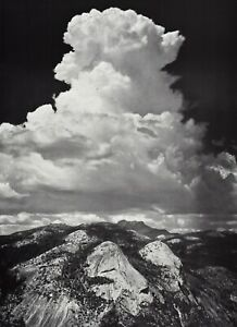 1959 Vintage ANSEL ADAMS Yosemite Valley Storm Cloud Landscape Photo Art 12X16