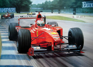 "Graham Turner print - ""Champioship Leader"" - Eddie Irvine - 1997 Ferrari F399"